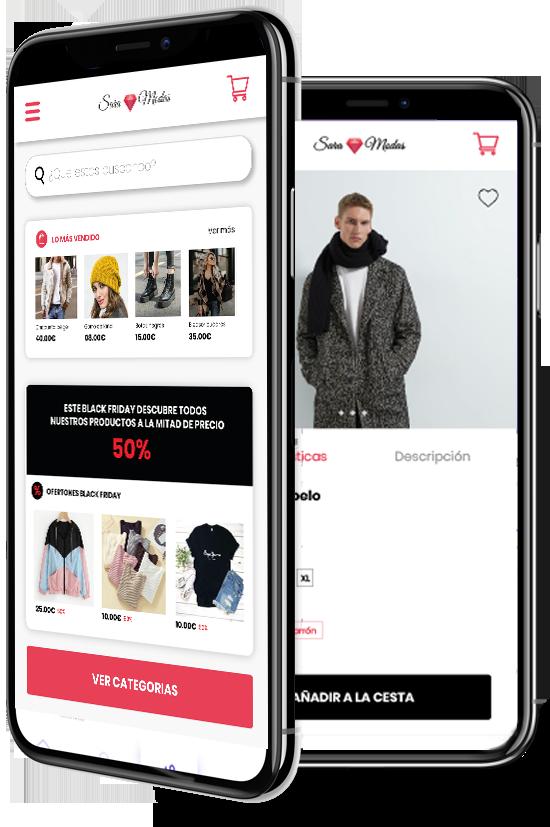 Prototipo de la app de venta que ofrecemos a nuestros clientes
